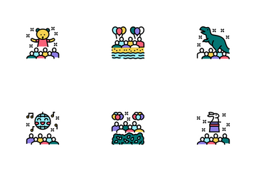 Kids Birthday Party Icon Pack
