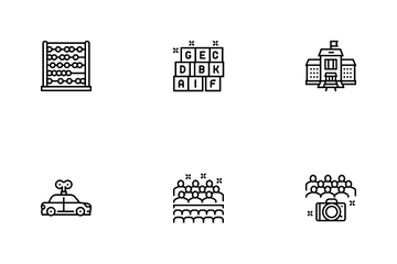 Kindergarten Activity Icon Pack