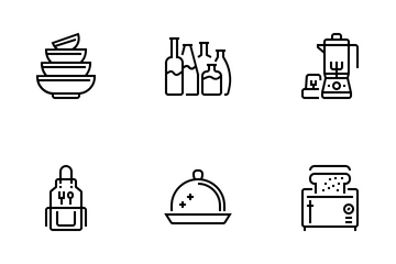 Kitchen And Cookware Icon Pack