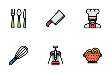 Kitchen Colored Icon Pack