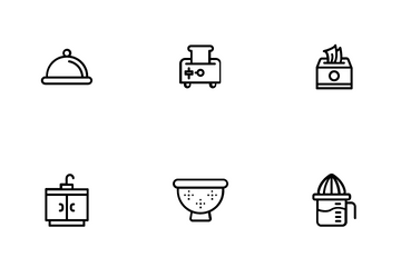 Kitchen Equipment Icon Pack