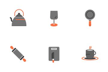 Kitchen Equipment (Flat) Icon Pack