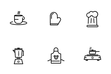 Kitchen Equipment (Line) Icon Pack