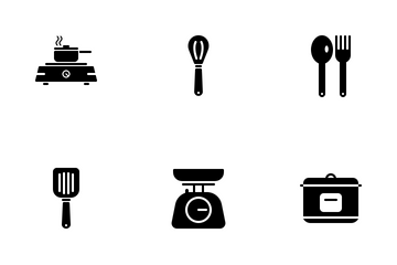 Kitchen Equipment (Solid) Icon Pack