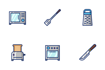 Kitchen Filled Line Icon Pack