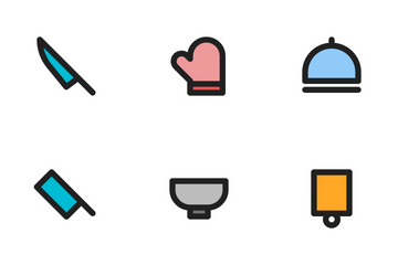 Kitchen (Filled Outline 24) Icon Pack