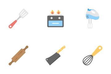 Kitchen Flat Icons  Icon Pack