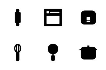 Kitchen (glyph) Icon Pack