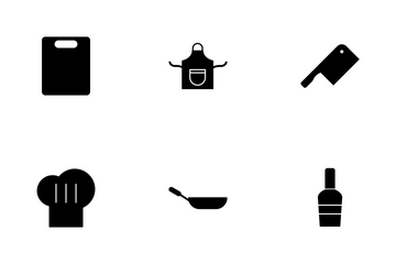 Kitchen Glyph Icon Pack
