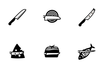 Kitchen Knifes (glyph) Icon Pack