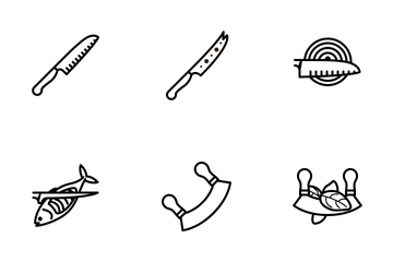 Kitchen Knifes (outline) Icon Pack