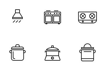 Kitchen (Line) Icon Pack