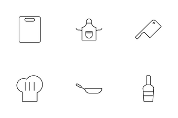 Kitchen Line Icon Pack