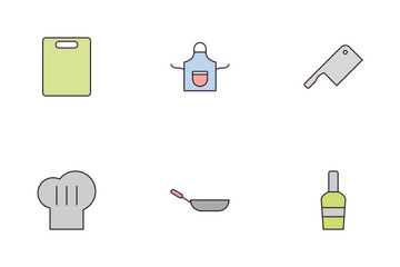 Kitchen Line Fill Icon Pack