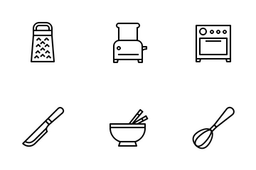 Kitchen Outline Icon Pack