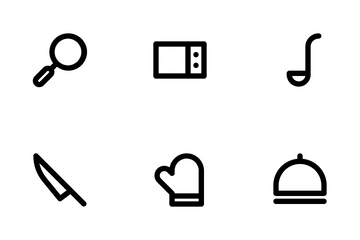 Kitchen (Outline 24) Icon Pack