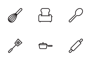 Kitchen's Tools Icon Pack