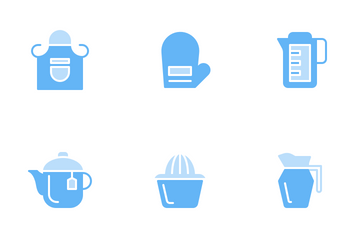 Kitchen (Soft Blue) Icon Pack