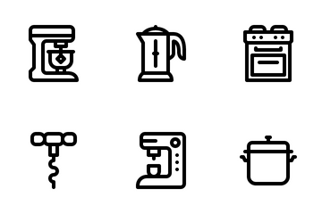 Kitchen Tool Icon Pack