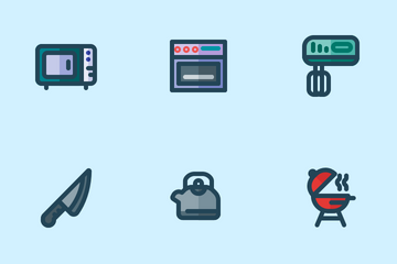 Kitchen Tools (Filled Line) Icon Pack