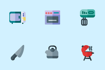 Kitchen Tools (Flat) Icon Pack