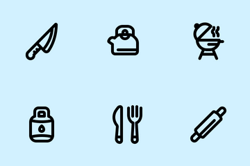 Kitchen Tools (Line) Icon Pack