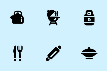 Kitchen Tools (solid) Icon Pack