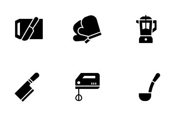 Kitchen Utensil (glyph) Icon Pack