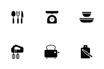 Kitchenware And Utensil Icon Pack