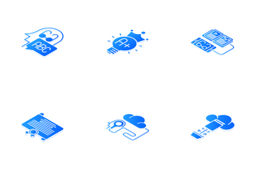 Knowledge And Education Isometric Icon Pack