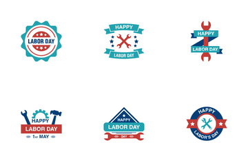 Labor Day Labels Icon Pack