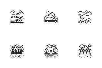 Land Scape Nature Icon Pack
