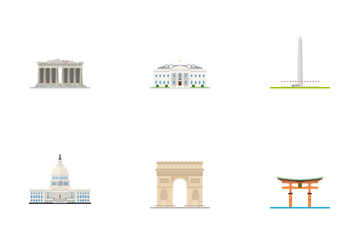 International Landmarks Icon Pack
