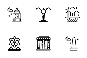 Landmark And Monument Icon Pack