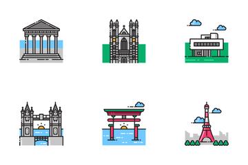 Landmark Building Icon Pack