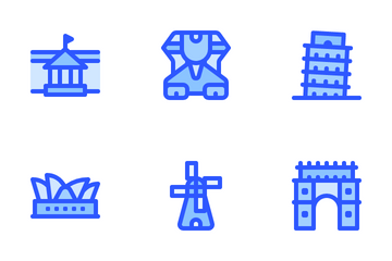Landmark Monument Icon Pack