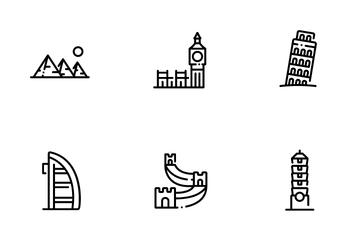 Landmark Outline Icon Pack
