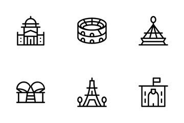 Landmarks And Monuments Icon Pack