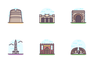 Landmarks And Universities Icon Pack