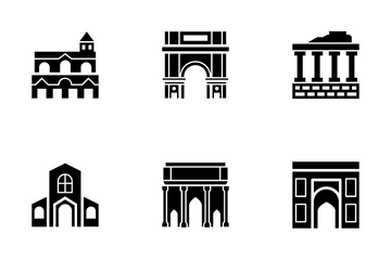 Landmarks Of Italy And Rome Icon Pack