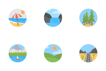 Landscape And Forest Icon Pack