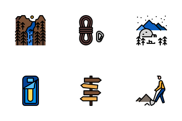 Landscape Camping Icon Pack