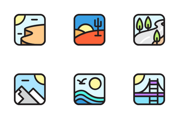 Landscape Environment Icon Pack