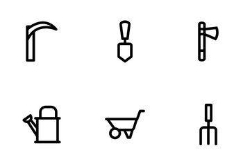 Landscaping Equipment Icon Pack