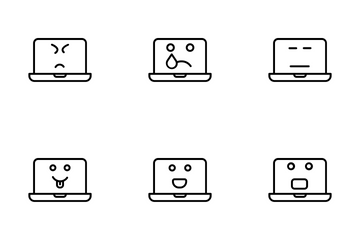Laptop Emoji Icon Pack