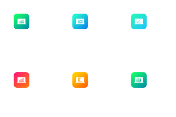 Laptop Graph  Icon Pack