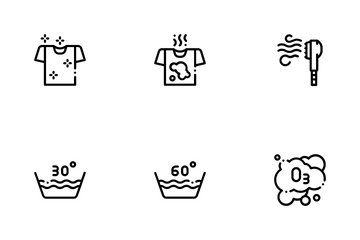Laundry Service Icon Pack