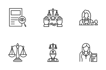 Law And Judgement Icon Pack