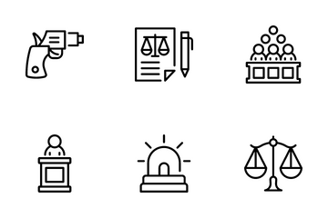 Law And Justice Icon Pack