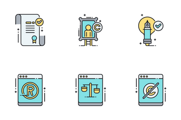 Law Copyright Icon Pack